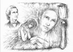 Iubind in taină - Desen de Mihai Catruna